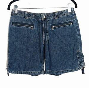 Vintage Liz Claiborne Denim Zipper Pocket Shorts 8